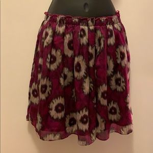 NWOT Anthropologie Odille pink patterned skirt